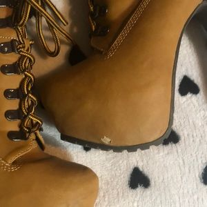 Breckelles Shoes - Military Lace Up Platform Ankle Booties